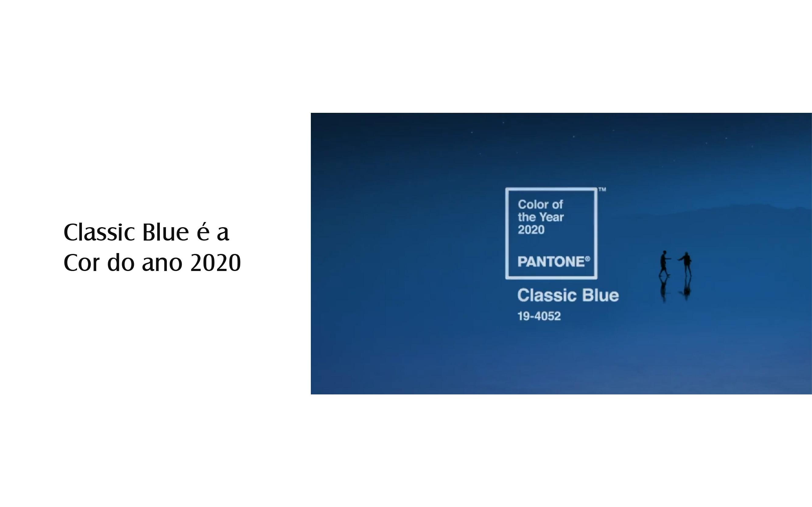 Classic Blue é a Cor do ano 2020 Pantone