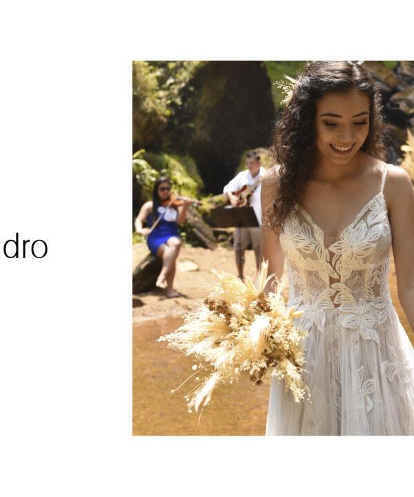 Elopement Wedding Raissa e Evandro - Vestido Zephora Alta Costura